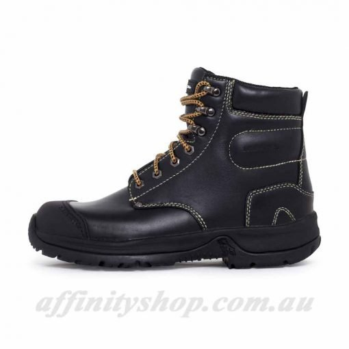 mack chassis work boots black side