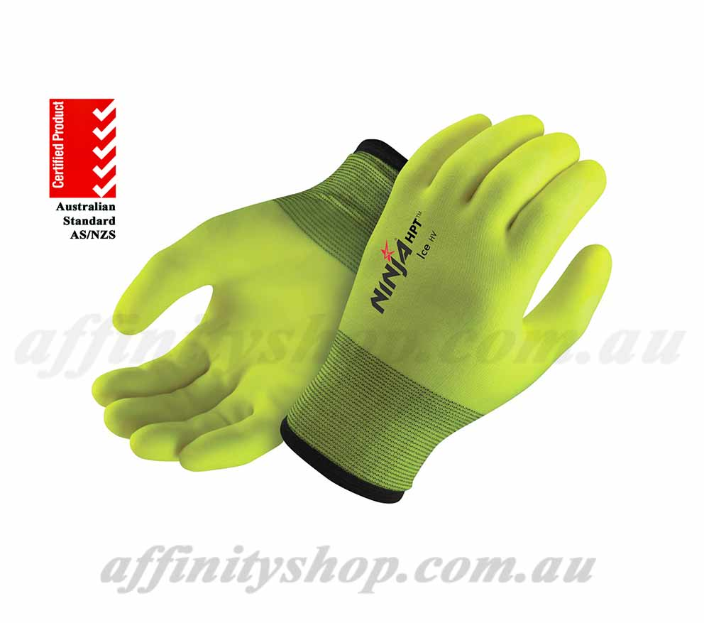 ninja ice hi vis winter work gloves p4004hv niicefrzr