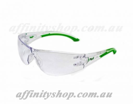 vx2 safety specs clear lens green mack mevx2c