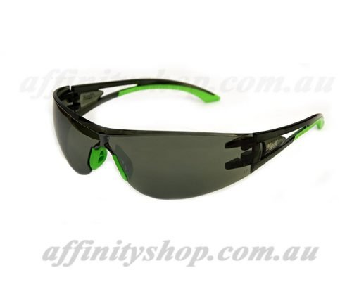 vx2 safety specs smoke lens green mack mevx2cg