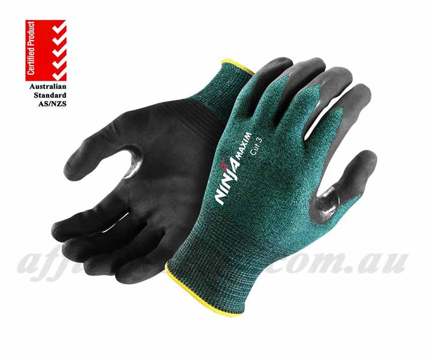 ninja maxim cut 3 work gloves nimaximc3gg