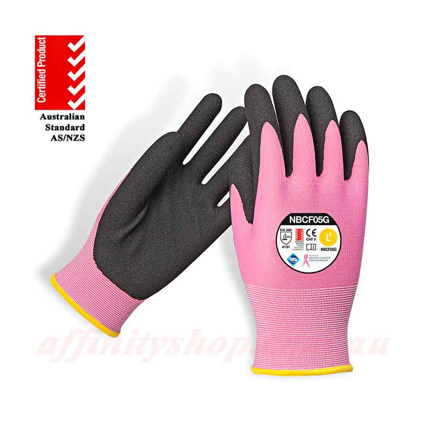nbcf zero pink synthetic work gloves - nbcf05g
