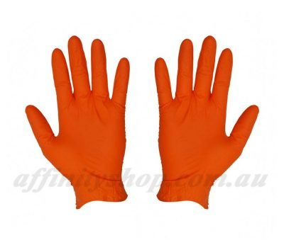 orange nitrile disposable gloves 41137 pf