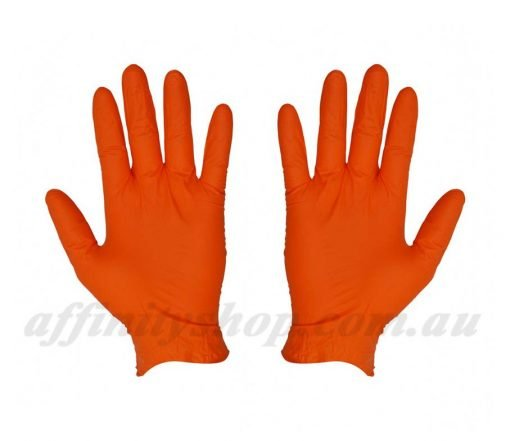 orange nitrile disposable gloves 41137 pf