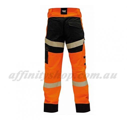 twz craftsman work pant ripstop orange cotton trouser tnbcolwrs reflective tape