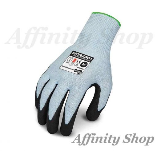 force360 cut 3 sand nitrile silk flex gloves worx301