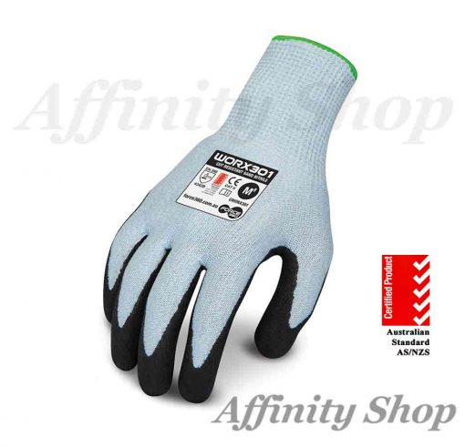 force360 cut 3 sand nitrile gloves worx301