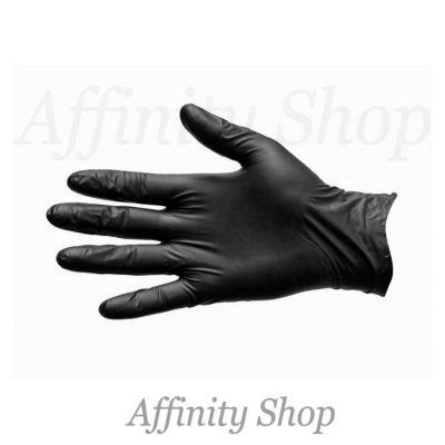 duo black nitrile disposable gloves