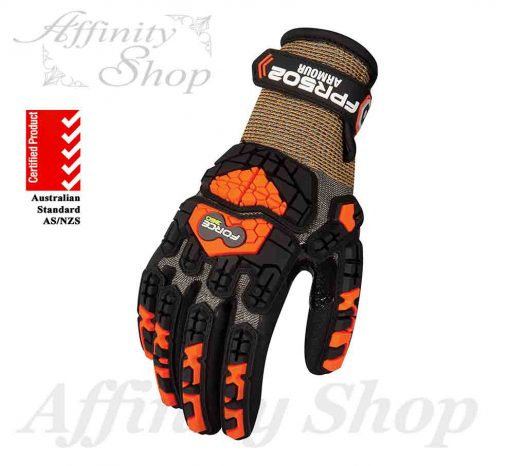 force360 graphex armour gloves fpr502 impact protection