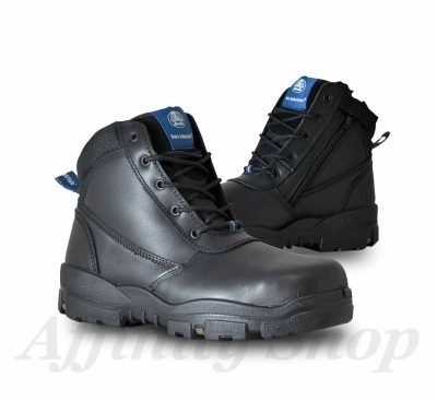 bata horizon work boots black leather zip footwear
