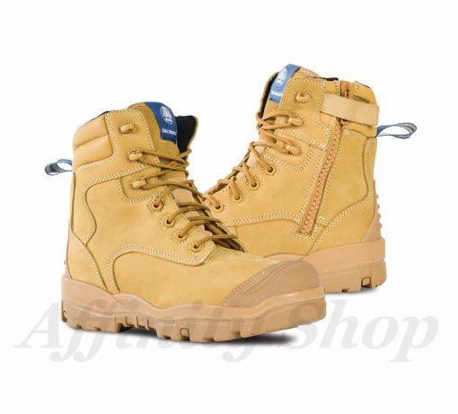 bata longreach zip work boots wheat st safety footwear