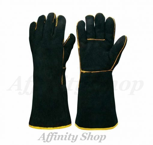 frontier black welding gloves leather p038