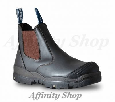 bata trekker safety work boots claret leather 756 44987