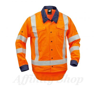 twz work shirt reflective tape orange navy stbcolw