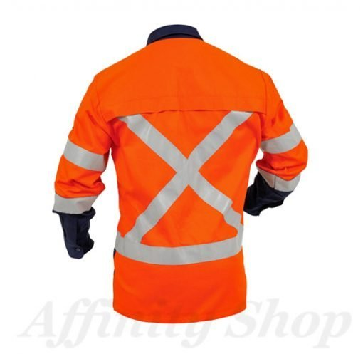 twz work shirt with reflective tape day night use snbco