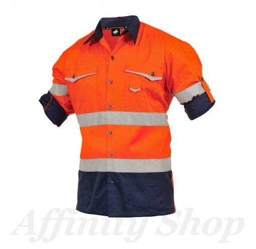 twz work shirt orange navy snbco-ona