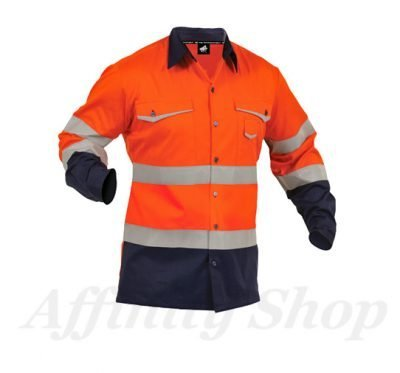 twz work shirt reflective tape orange navy snbco-ona