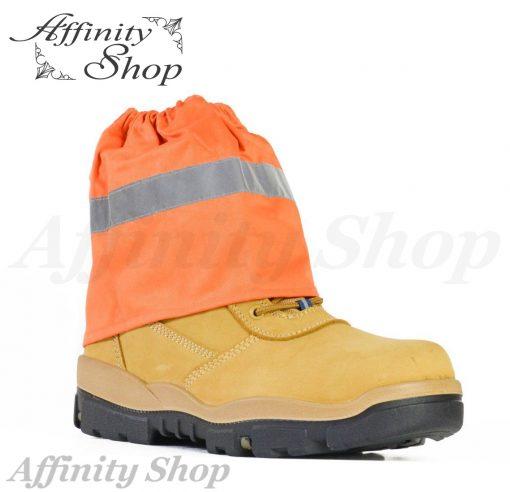 bata boot protectors over boot sock covers orange