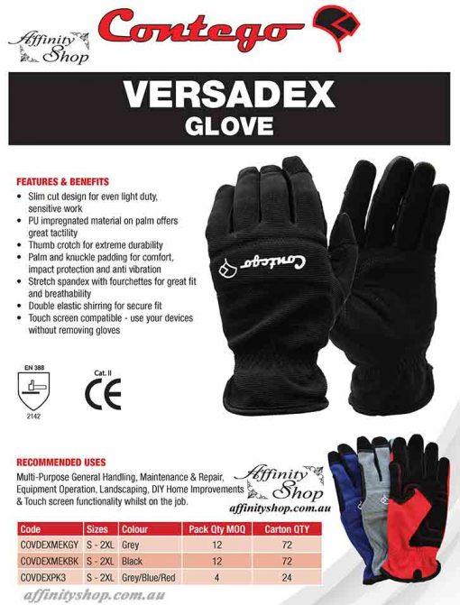 contego versadex work gloves