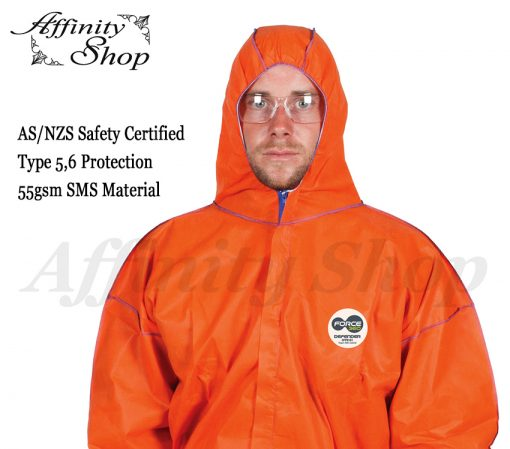 force360 defender disposable coveralls orange