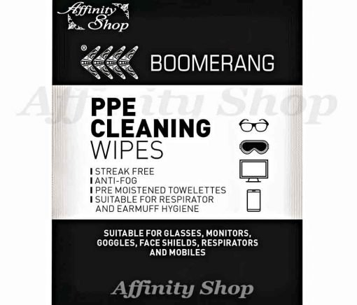 boomerang lens cleaning wipes with anti-fog & anti-scratch