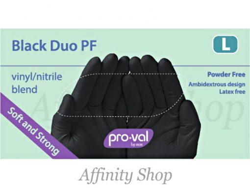 duo black nitrile vinyl blend proval gloves