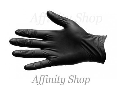 duo black nitrile diposable gloves