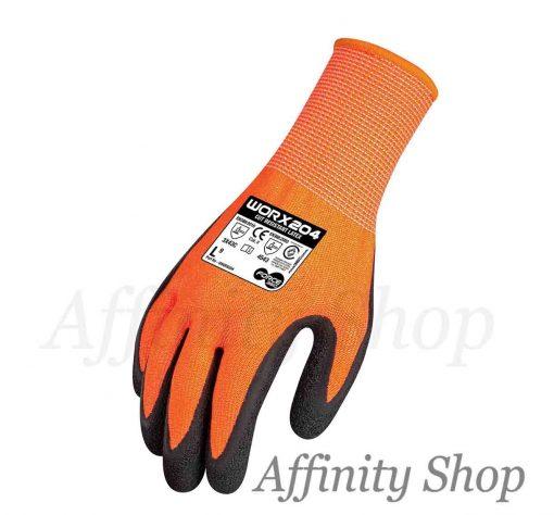 cut 5 latex work gloves force360 worx204