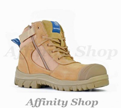 bata zippy work boots wheat leather